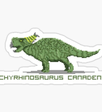 Pixel Pachyrhinosaurus Sticker