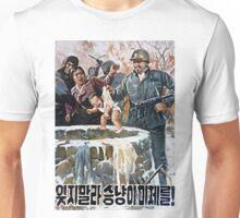 NORTH KOREA ANTI-USA PROPAGANDA POSTER PRINT Unisex T-Shirt