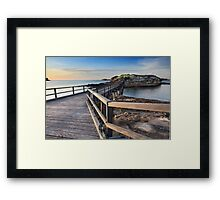 Sunrise over Bare Island, La Perouse Australia Framed Print
