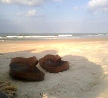 Flip Flops in the Sand by Tagni