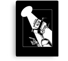 Robot in the Spotlight Canvas Print
