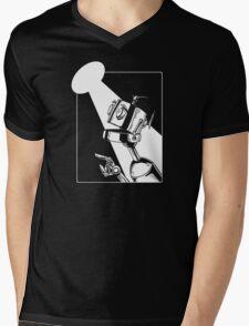 Robot in the Spotlight Mens V-Neck T-Shirt