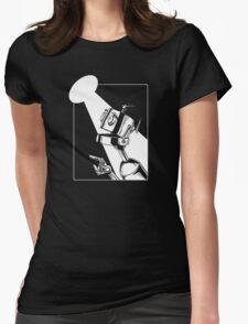 Robot in the Spotlight Womens Fitted T-Shirt