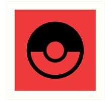 Pokémon Symbol - Super Smash Bros. (black) Art Print
