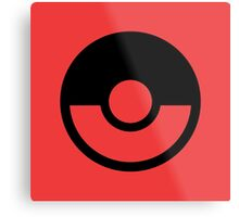 Pokémon Symbol - Super Smash Bros. (black) Metal Print