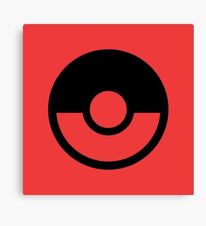 Pokémon Symbol - Super Smash Bros. (black) Canvas Print