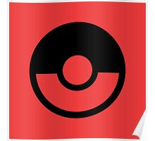 Pokémon Symbol - Super Smash Bros. (black) Poster