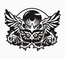 Illuminati Black - Owl - Big Eye Kids Tee