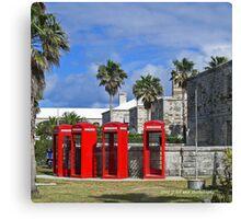 Bermuda - Phone Booths  Canvas Print