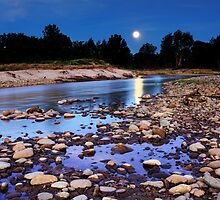 Moonrise over Yarramundi Australia by Leah-Anne Thompson