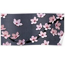 Triangulated Cherry Blossoms Poster
