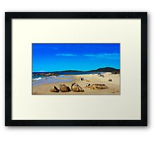 Western Rocks Framed Print