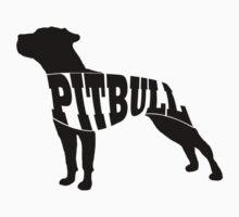 Pitbull black Kids Clothes
