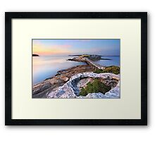 Sunrise at Bare Island, Australia seascape landscape Framed Print
