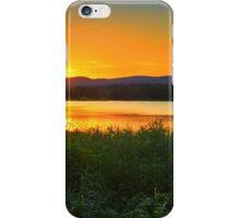 Sunset behind Blue Mountains Australia iPhone Case/Skin