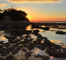Magnificent colours and reflections at Plantation Point sunset Sticker