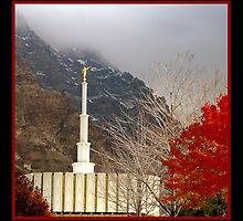 Provo LDS Temple - Autumn by Ryan Houston