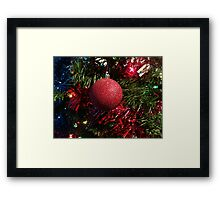 Christmas in Red Framed Print