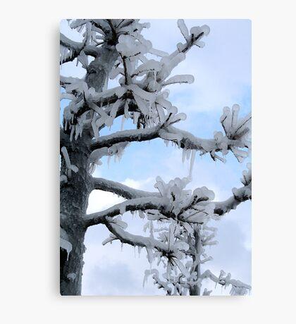 Freezing Tree Canvas Print