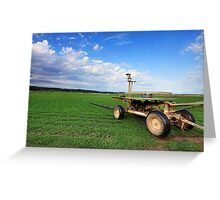 Turf Farm Freemans Reach Australia landscape Greeting Card