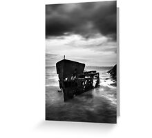 Old lady of the sea - black and white Greeting Card