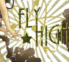 Fly High Dieselpunk Woman Sticker