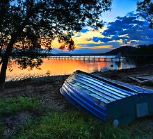 Beautiful Sunset Kincumber Australia seascape landscape by Leah-Anne Thompson