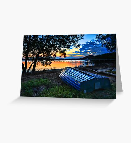 Beautiful Sunset Kincumber Australia seascape landscape Greeting Card