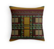 GOLD, BURGANDY and GREEN, abstract design, gifts and decor,   Throw Pillow