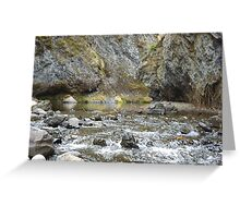 Bear Creek Box Canyon Greeting Card
