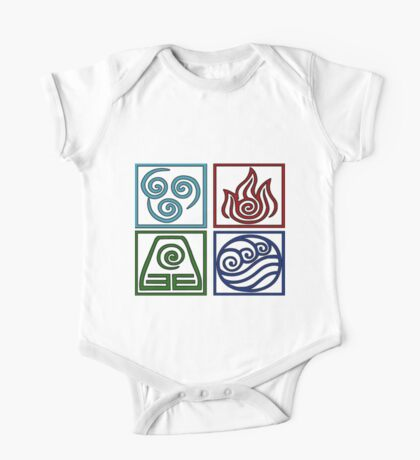 The Four Elements -Avatar One Piece - Short Sleeve