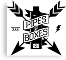 Pipes & Boxes Canvas Print