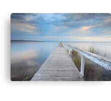 Long Jetty serenity - Australia seascape landscape Canvas Print