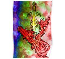 Magical Serpent Sword Poster