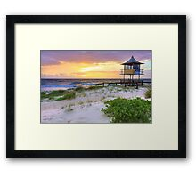 Beautiful sunrise at The Entrance, Central Coast, Australia seascape landscape Framed Print