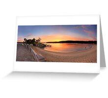 Sunrise Balmoral Beach Panorama  Australia seascape landscape Greeting Card