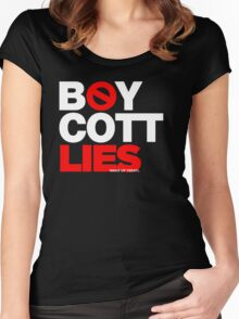 BOYCOTT LIES Women's Fitted Scoop T-Shirt