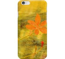 Orange Lily on Grunge iPhone Case/Skin