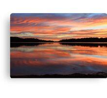 Red Sunrise Reflections at Narrabeen, Australia seascape landscape Canvas Print