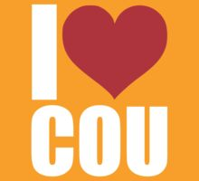 I Love Columbia MO White Text by ejnrby