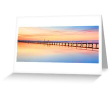 Beautiful sunset at Long Jetty seascape landscape Australia Greeting Card