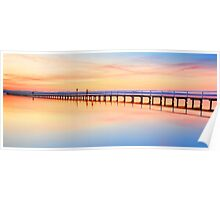 Beautiful sunset at Long Jetty seascape landscape Australia Poster