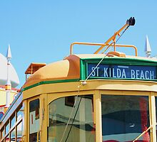 St Kilda Tram by Cheryl Morrice
