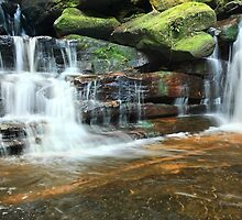 Somersby Waterfalls Australia landscape by Leah-Anne Thompson