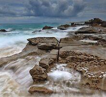 Ocean in Motion at Soldiers Beach Australia seascape landscape by Leah-Anne Thompson