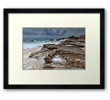 Ocean in Motion at Soldiers Beach Australia seascape landscape Framed Print