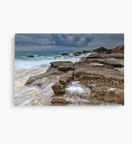 Ocean in Motion at Soldiers Beach Australia seascape landscape Canvas Print