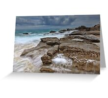 Ocean in Motion at Soldiers Beach Australia seascape landscape Greeting Card