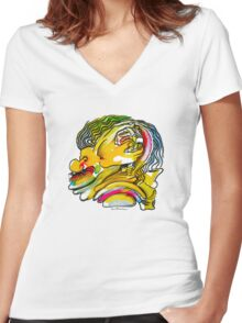 Interpretation #88 - The key of our minds is under our noses... Women's Fitted V-Neck T-Shirt