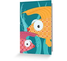 Ornate tropical fish Greeting Card